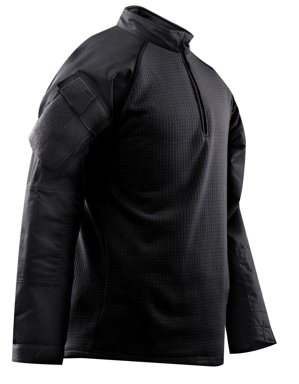 Tru-Spec Men's 1/4 Zip Winter Combat Shirt, Black, hi-res