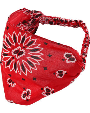 Shyanne Women's Red Bandana Headwrap, Red, hi-res