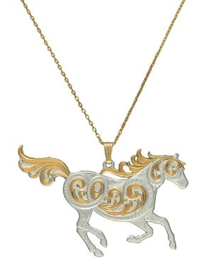 Montana Silversmiths Run Free Pendant Necklace, Silver, hi-res