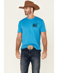 Ariat Men's Turquoise Freedom Graphic Short Sleeve T-Shirt , Blue, hi-res