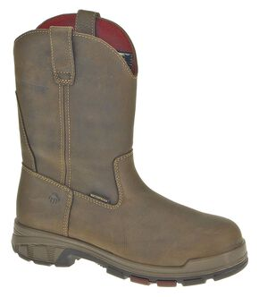 Wolverine Cabor Wellington Waterproof Work Boots - Composite Toe, Coffee, hi-res