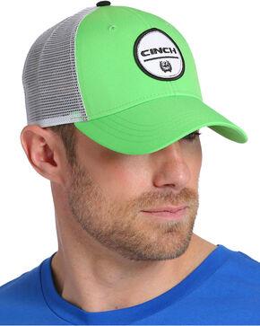Cinch Men's Green Trucker Mesh Back Cap , Green, hi-res