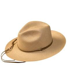 Bailey Dark Natural Explorer Brisa Weave Panama Straw Fedora Hat , No Color, hi-res