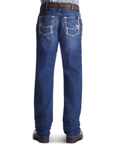 Ariat Men's Flame Resistant M4 Ridgeline Bootcut Work Jeans, Denim, hi-res