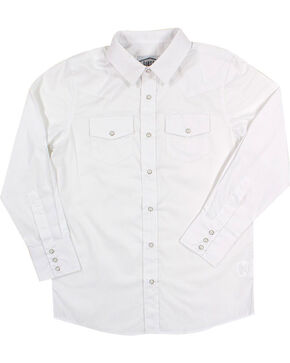 Gibson Trading Co. Men's White Water Long Sleeve Snap Shirt, White, hi-res