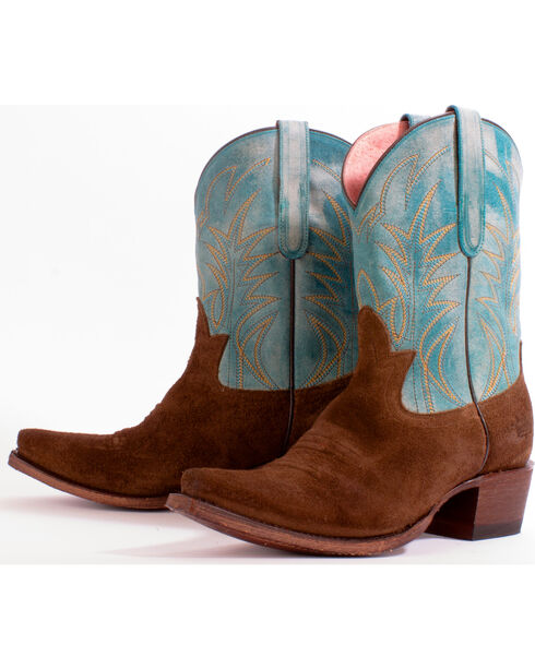 Junk Gypsy by Lane Women's Turquoise Dirt Road Dreamer Boots - Snip Toe, Turquoise, hi-res