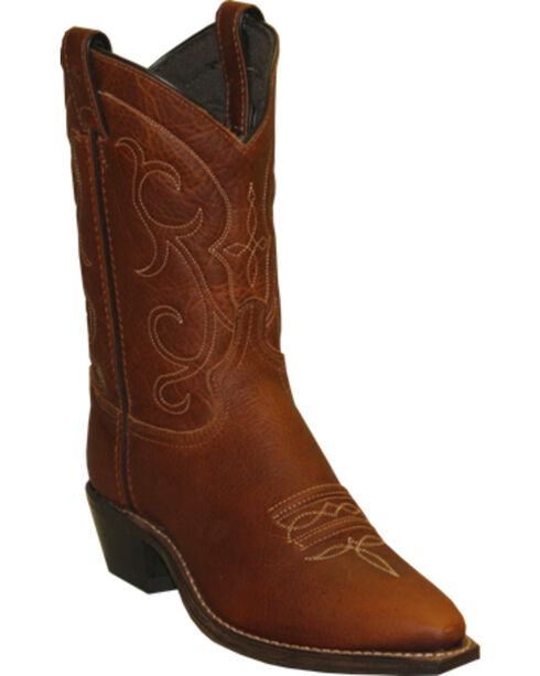 Abilene Boots Women's Soft Textured Short Western Boots - Snip Toe, Brandy, hi-res