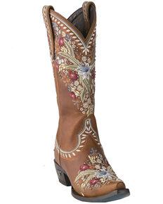 Lane Women's Chloe Western Boots - Snip Toe, Brown, hi-res