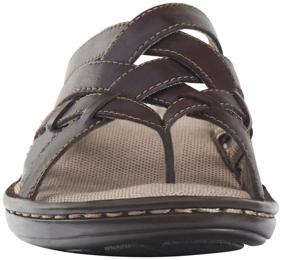 Eastland Women's Brown Lila Thong Sandals , Brown, hi-res
