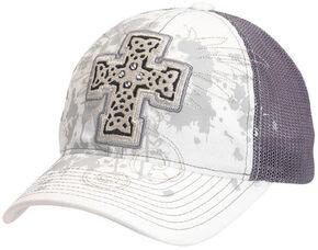 Blazin Roxx Bedecked Cross Mesh Back Cap, White, hi-res