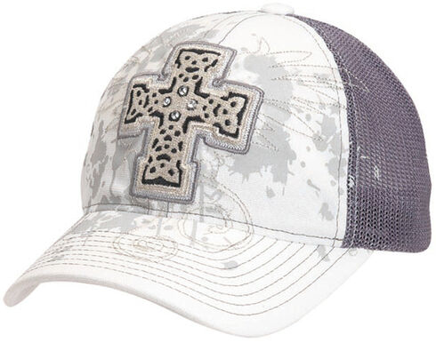 Blazin Roxx Bedecked Cross Mesh Back Cap, , hi-res