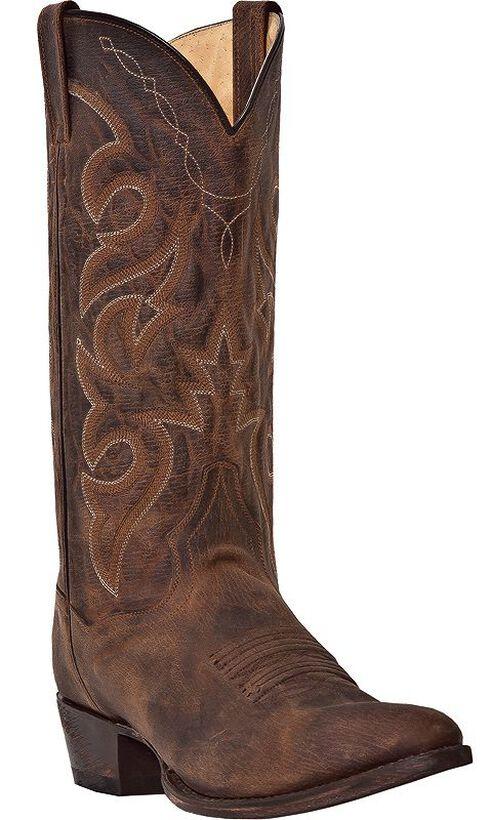 Dan Post Renegade Cowboy Boots - Round Toe, Bay Apache, hi-res