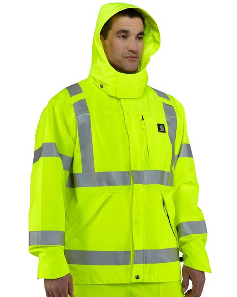 Carhartt High-Visibility Class 3 Waterproof Jacket, Lime, hi-res