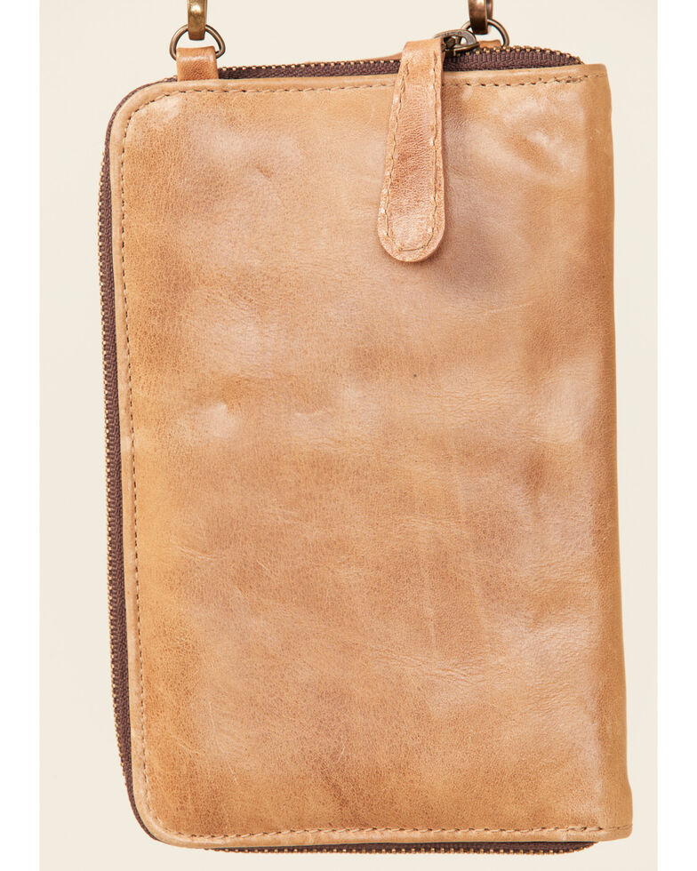 Shayanne Women's Aztec Cell Phone Wallet, Tan, hi-res