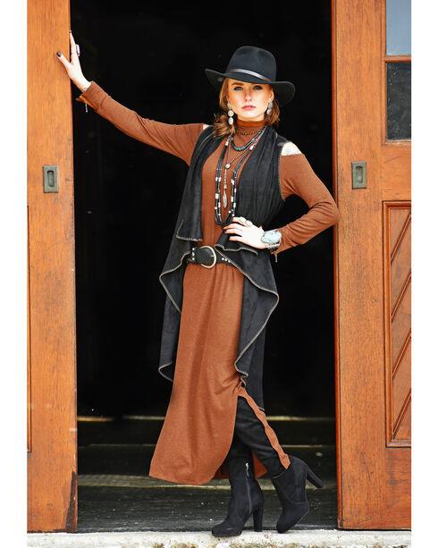 Tasha Polizzi Women's Black Blake Vest , Black, hi-res