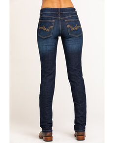 Wrangler Women's Dark Mid Rise Everyday Straight Jeans, Blue, hi-res