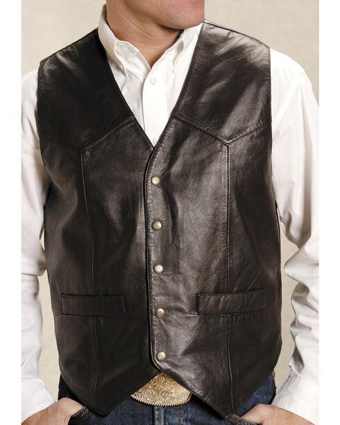 Roper Men's Basic Western Lambskin Vest - Tall, Brown, hi-res