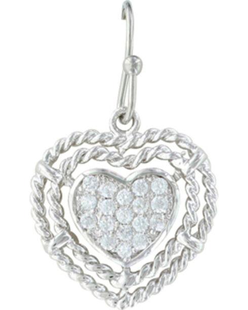 Montana Silversmiths Women's Roped My Heart Earrings , Silver, hi-res