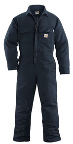 Carhartt Flame Resistant Work Coveralls - Big & Tall, Navy, hi-res