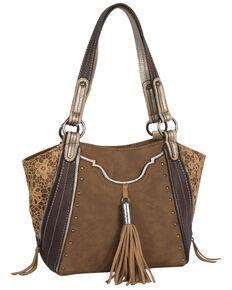 Justin Women's Shoulder Fringe Saddle Bag, Brown, hi-res
