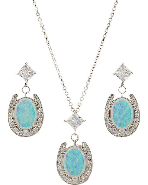 Montana Silversmiths Women's River Lights Pond of Luck Jewelry Set, Silver, hi-res
