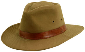 Scala Men's Bark Twill Outback Hat, Bark, hi-res