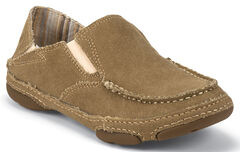 Tony Lama Women's Winter Wheat 3R Casuals Canvas Shoes - Moc Toe , Wheat, hi-res