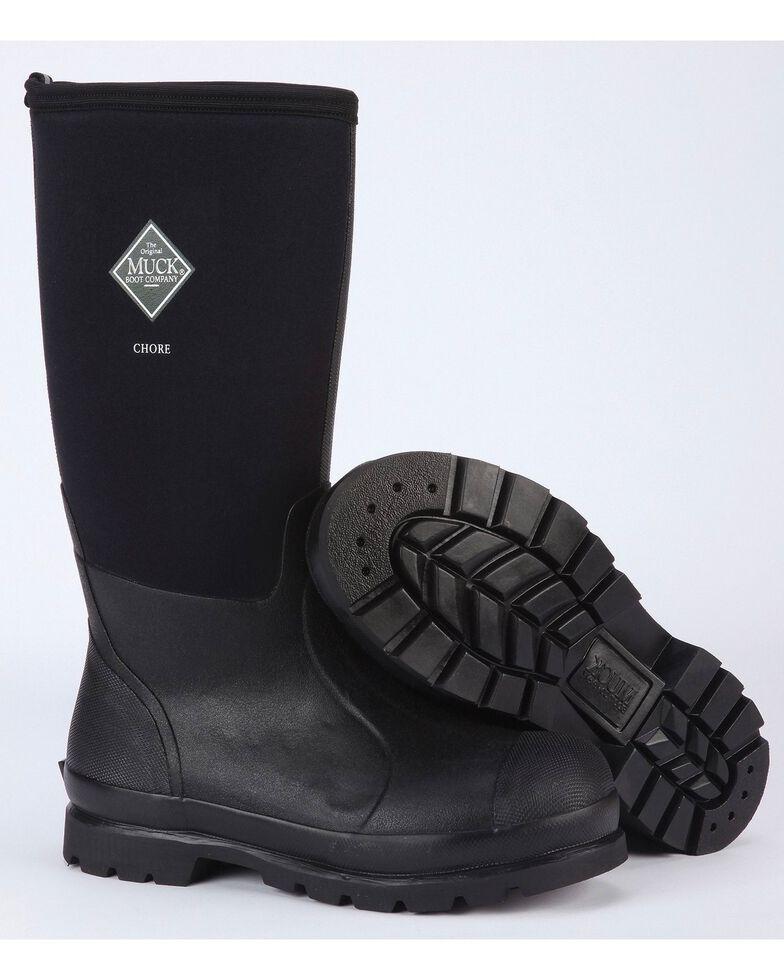 Muck Boots Chore Hi Work Boots, Black, hi-res