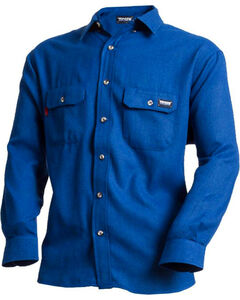 NSA TECGEN Men's Blue FR Deluxe Long Sleeve Shirt , Royal Blue, hi-res