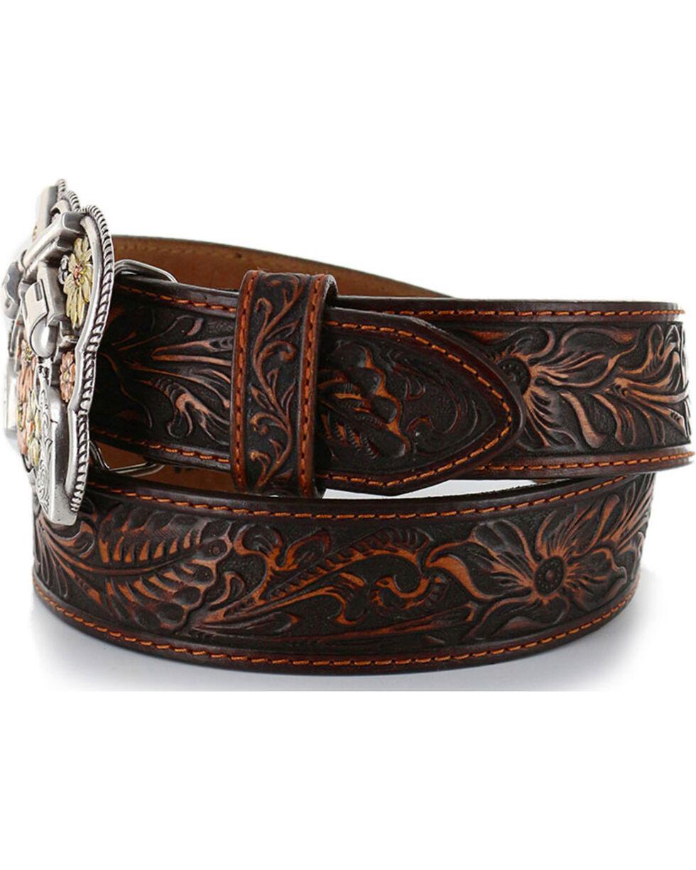 Justin Women's Bandit Queen Leather Belt, Brown, hi-res