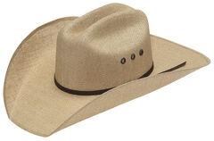 Twister 8X Jute Three Cord Brown Band Cowboy Hat, Natural, hi-res
