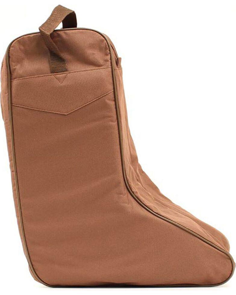 M F Western Brown Boot Bag Hi Res