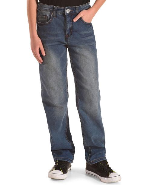 Silver Toddler Boys' Benny Medium Wash Jeans - Straight Leg, Indigo, hi-res