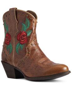 Ariat Women's Gracie Rose Fashion Booties - Round Toe, Brown, hi-res