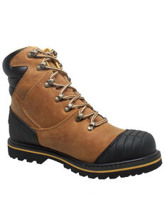 Ad Tec Men's Light Brown Work Boots - Steel Toe, Lt Brown, hi-res