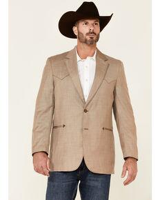 Circle S Men's Solid Tan Carson City Button-Front Sportscoat , Tan, hi-res