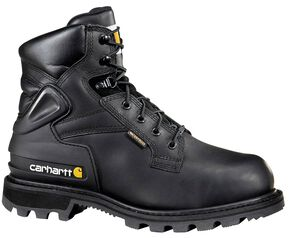 "Carhartt 6"" Black Work Boots - Safety Toe, Black, hi-res"