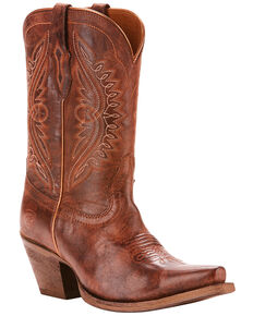 Ariat Women's Circuit Stella Crossfire Cocoa Western Boots - Snip Toe, Brown, hi-res