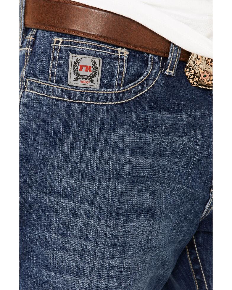 Cinch Men's FR Silver Label Stretch Slim Straight Jeans , Indigo, hi-res