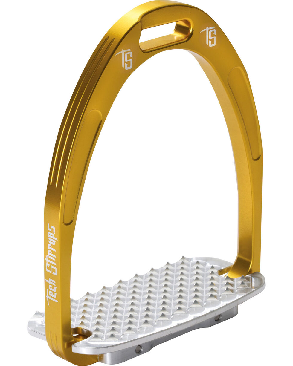 Tech Stirrups Gold Athena Jumper Irons , Gold, hi-res