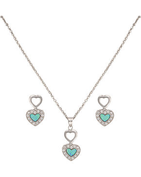 Montana Silversmiths River Lights in Love Jewelry Set, Silver, hi-res