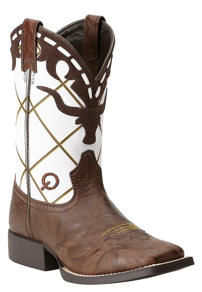 4fb4bd3e56c Ariat Boys' Dakota Dogger Cowboy Boots - Square Toe