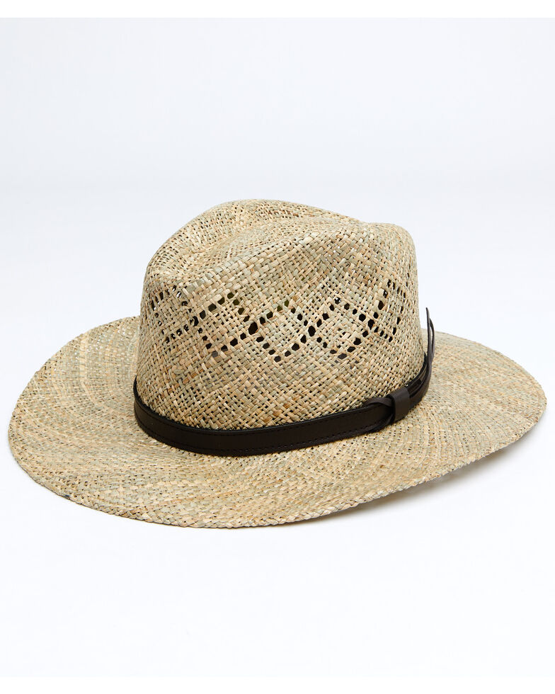 Stetson Men's Dove Mountain UV Protection Seagrass Straw Hat, Natural, hi-res