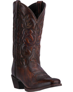 Laredo Men's Emporia Western Boots - Square Toe, Tan, hi-res