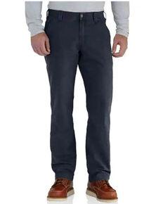 Carhartt Men's Rugged Flex Rigby Dungaree Work Pants - Big , Navy, hi-res