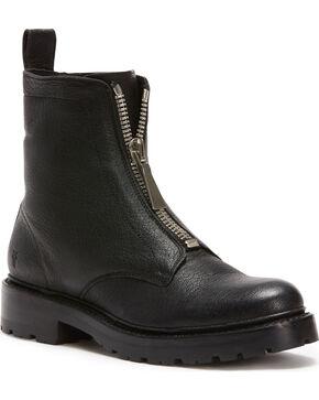 Frye Women's Black Julie Front Zip Boots - Round Toe, Black, hi-res