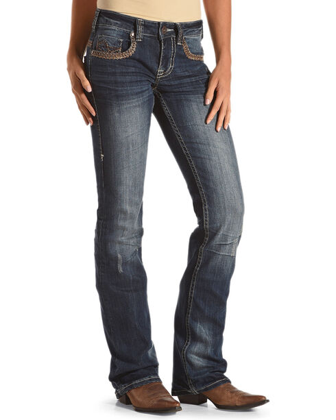 Cowgirl Tuff Women's Blue Wild Wooly Jeans - Boot Cut , Blue, hi-res