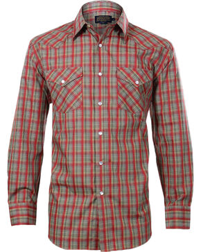 Pendleton Men's  Plaid Check Long Sleeve Shirt, Red, hi-res