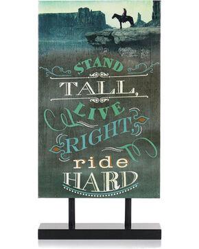 BB Ranch Ride Hard Standing Canvas Decor, No Color, hi-res