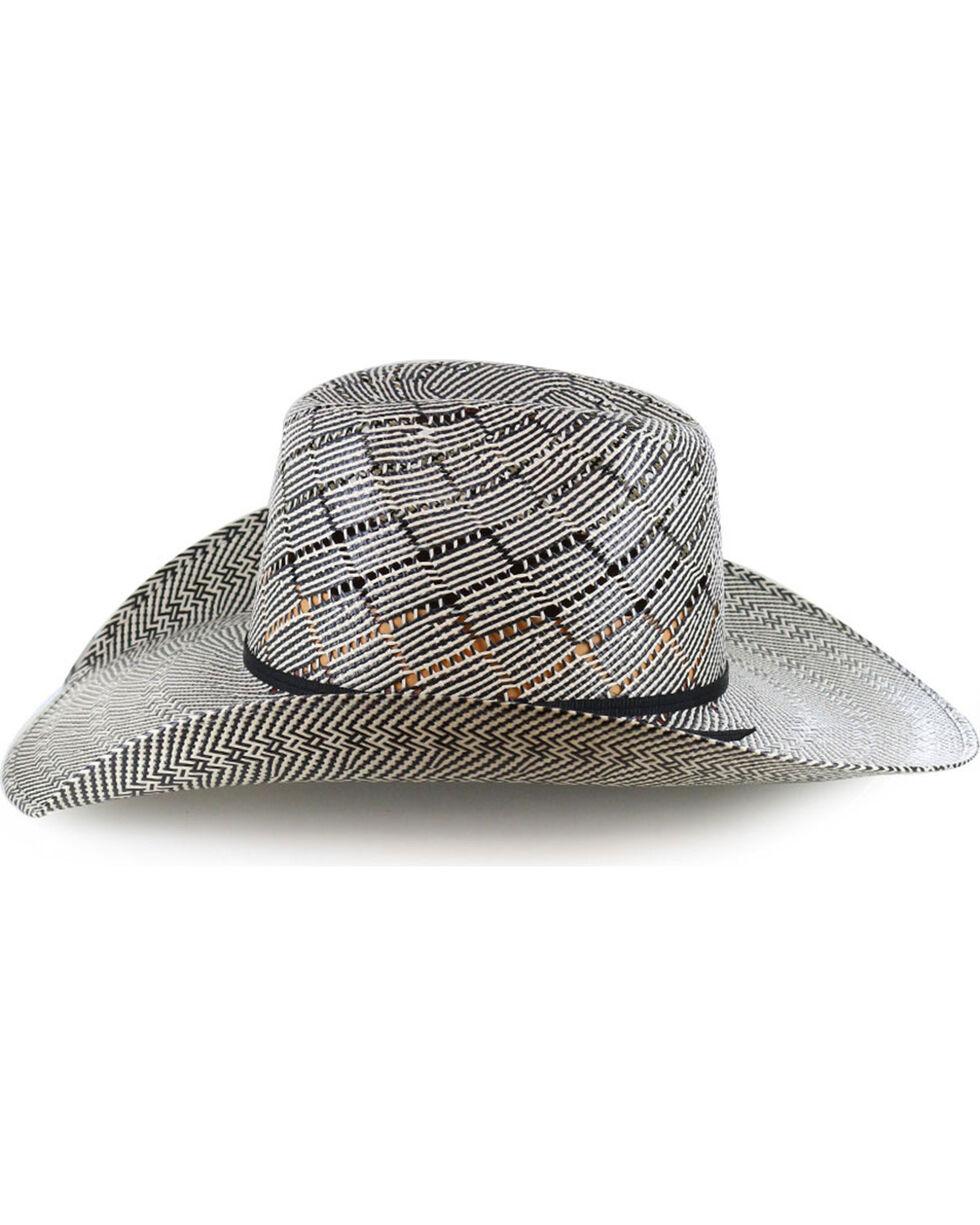 Cody James Men's 50X Vented Straw Cowboy Hat , Black, hi-res